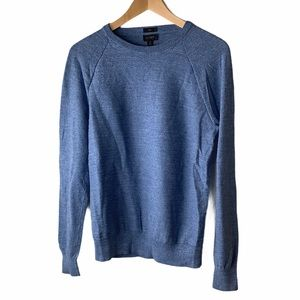 J Crew Slim rugged cotton sweater blue size small